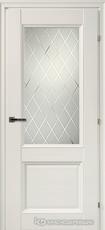 Дверь Краснодеревщик 33 24Ф (стекло кристалл) с фурнитурой, Белый CPL